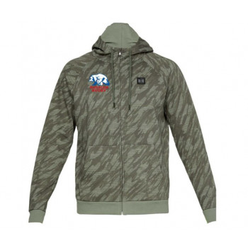 Толстовка Under Armour RIVAL FLEECE CAMO FZ HOODIE-GRN